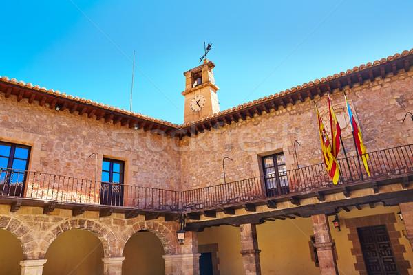 Medieval cidade Espanha cidade ouvir aldeia Foto stock © lunamarina