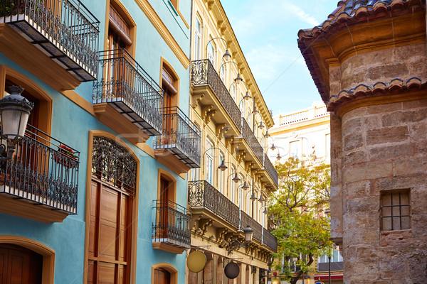Valencia belváros utca Spanyolország művészet Európa Stock fotó © lunamarina