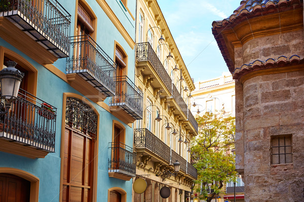 Valencia Downtown near Sant Vicent street Stock photo © lunamarina