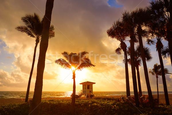 Форт-Лодердейл пляж Восход Флорида утра США Сток-фото © lunamarina