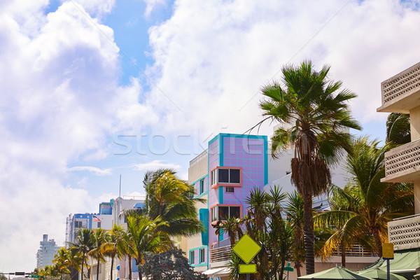 Miami Beach Ocean boulevard Art Deco Florida Stock photo © lunamarina