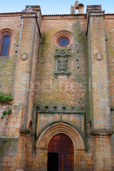 Caceres church of Santiago in Spain Stock photo © lunamarina