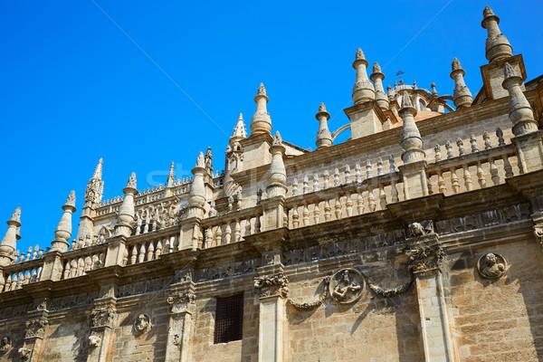 Seville cathedral of Sevilla Andalusia Stock photo © lunamarina