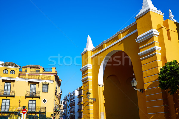 Seville Puerta de la Macarena Arch door Spain Stock photo © lunamarina