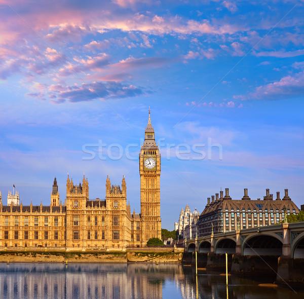 Big Ben horloge tour thames rivière Londres Photo stock © lunamarina