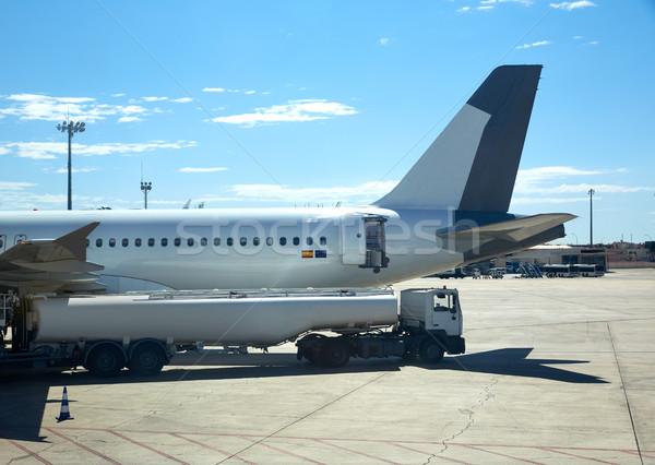 общий самолета самолет газ автобус дороги Сток-фото © lunamarina