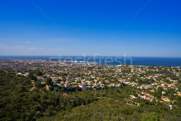 Denia skyline view from Montgo mountain Alicante Stock photo © lunamarina