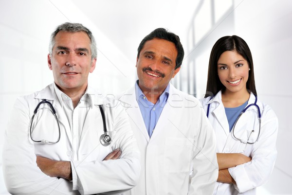 doctors multiracial expertise indian caucasian latin Stock photo © lunamarina