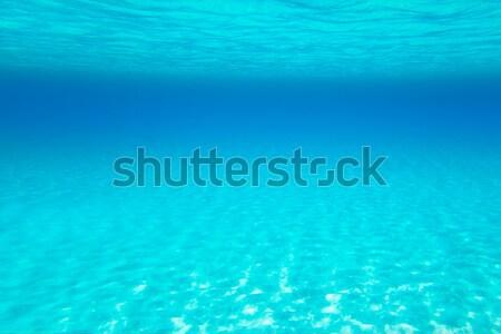 Caribbean golf turkoois water hoog horizon Stockfoto © lunamarina