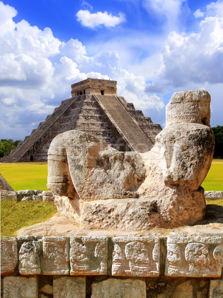 Ancient Chac Mool Chichen Itza figure Mexico Stock photo © lunamarina