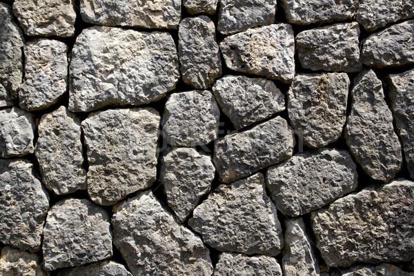Szary wapień kamieniarstwo ściany typowy mallorca Zdjęcia stock © lunamarina