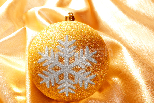 Christmas glitter golden snowflake bauble Stock photo © lunamarina