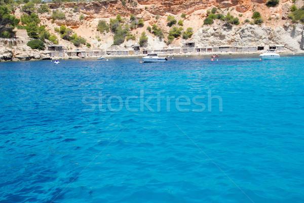 Cala d Hort Ibiza island in Balearics Stock photo © lunamarina