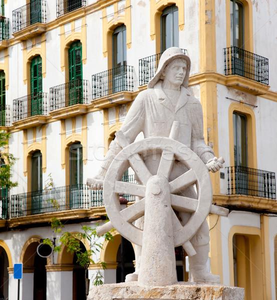 Ville statue dévoué tous marin mer Photo stock © lunamarina