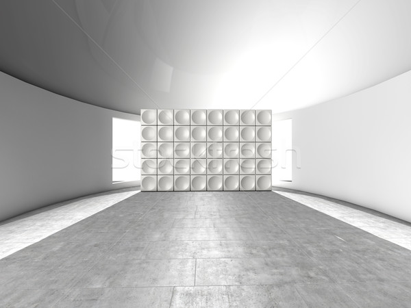 Abstrato futurista acústico parede círculos Foto stock © lunamarina