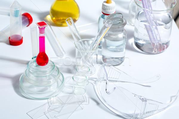 Stok fotoğraf: Kimyasal · bilimsel · laboratuvar · deney · tüpü · tıbbi