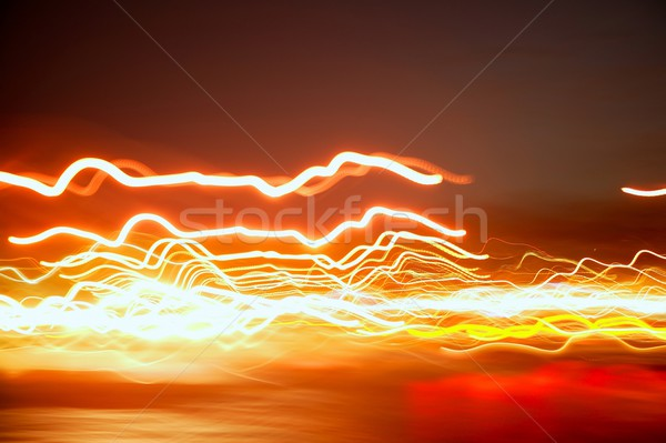 blurred night red city lights moving Stock photo © lunamarina