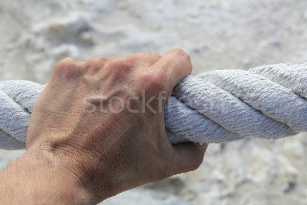 ストックフォト: 男 · 手 · グリップ · 強い · ビッグ