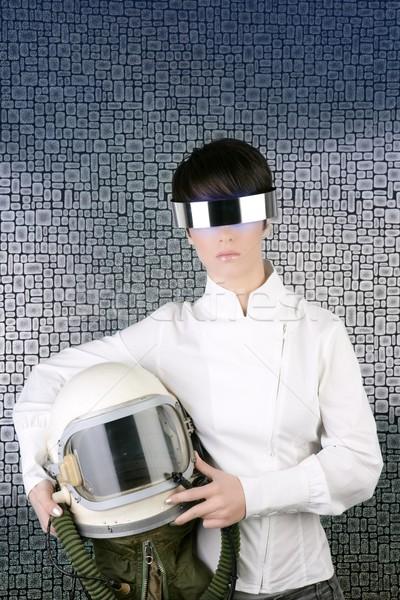未来的な 宇宙船 航空機 ヘルメット 宇宙飛行士 女性 ストックフォト © lunamarina