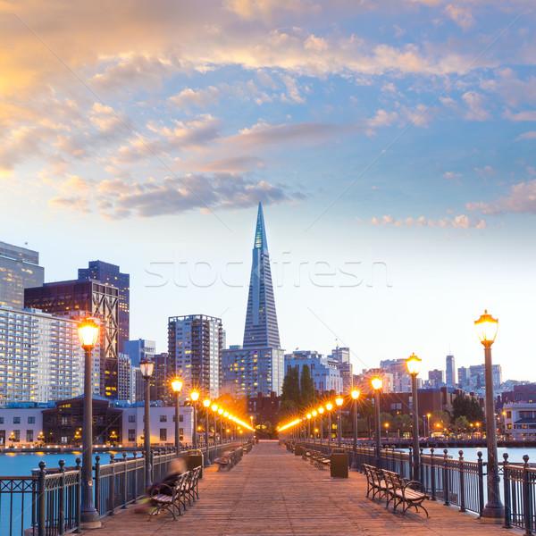 San Francisco pier tramonto California USA cielo Foto d'archivio © lunamarina