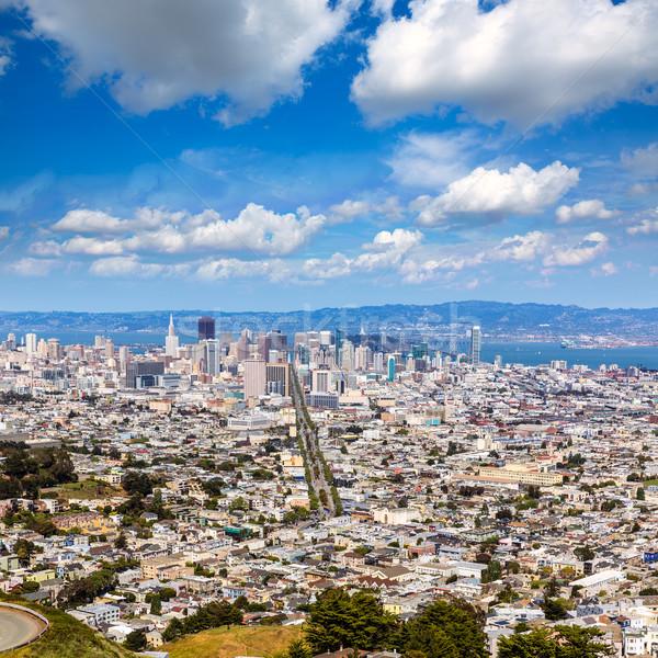 San Francisco skyline from Twin Peaks in California Stock photo © lunamarina