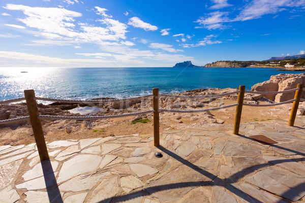 Morze Śródziemne Hiszpania widoku wygaśnięcia charakter niebieski Zdjęcia stock © lunamarina