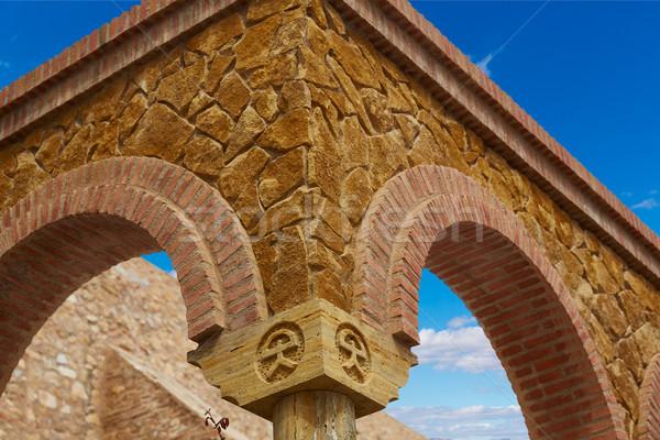 Photo stock: Blanche · village · Espagne · ville · montagne