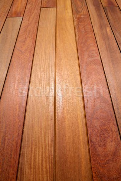 Ipe teak wood decking deck pattern tropical wood  Stock photo © lunamarina