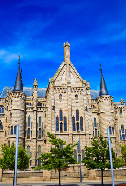 Astorga Leon Palacio Episcopal of Antoni Gaudi Stock photo © lunamarina