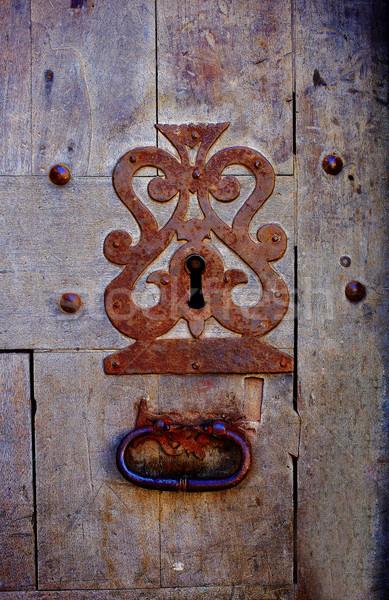 Porta trancar buraco de fechadura Espanha Foto stock © lunamarina