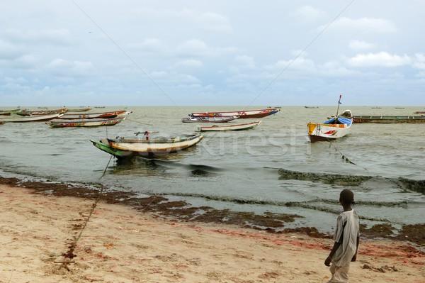 Africa Senegal Atlantic coast fisherman boats Stock photo © lunamarina