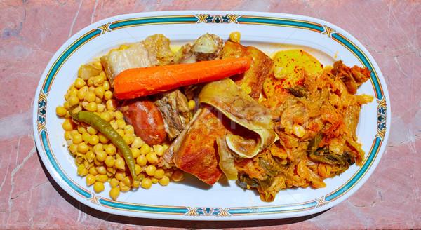 Ricetta Spagna santo alimentare ristorante olio Foto d'archivio © lunamarina