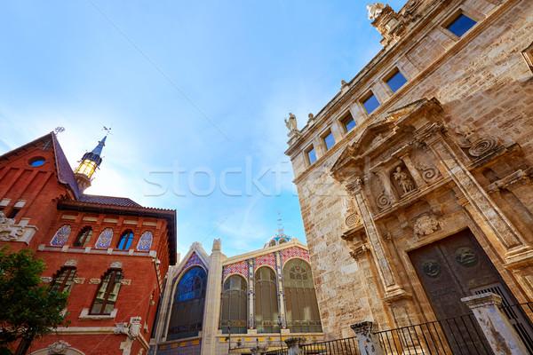 Valencia Santos Juanes Church in Spain Stock photo © lunamarina