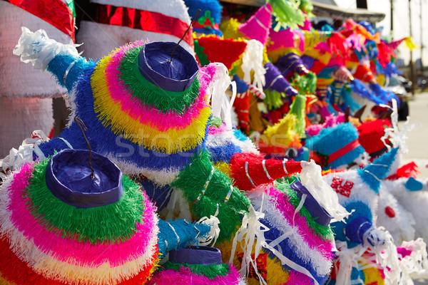 Mexicano festa colorido papel decorado Foto stock © lunamarina