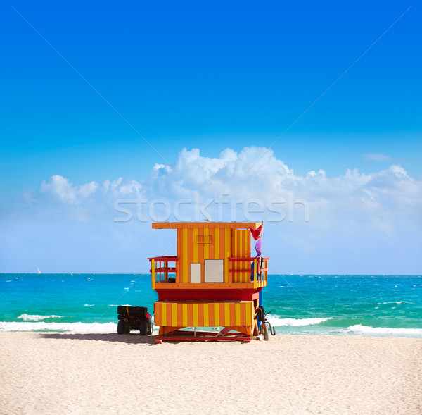 Miami plage tour Floride USA Photo stock © lunamarina