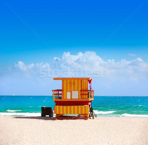 Майами пляж башни юг Флорида США Сток-фото © lunamarina