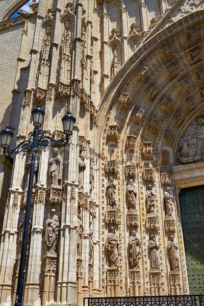 Catedral fachada Espanha edifício cidade arquitetura Foto stock © lunamarina