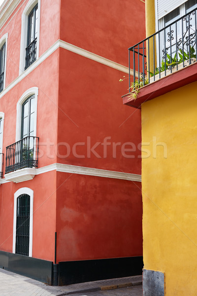 Triana barrio of Seville facades Andalusia Spain Stock photo © lunamarina