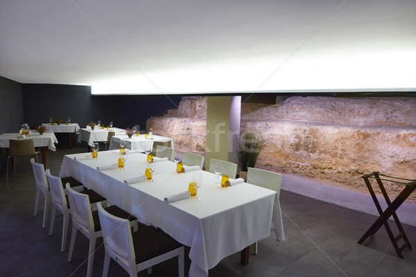 Restaurante antigo ruínas projeto verão Foto stock © lunamarina