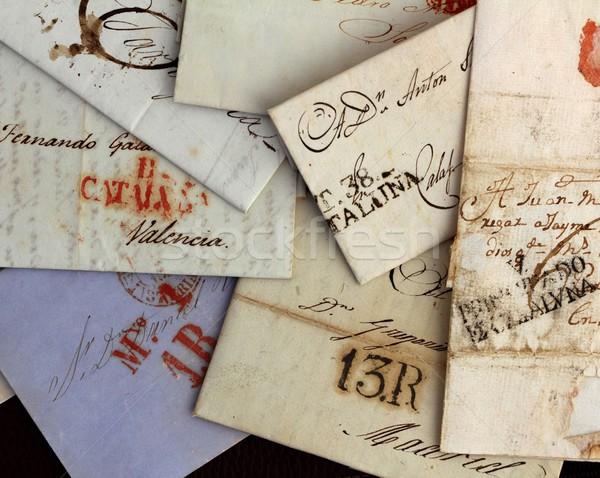Anonim kézzel írott igazi öreg levelek Spanyolország Stock fotó © lunamarina