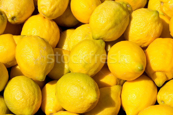 lemon fruits in the marketplace Stock photo © lunamarina