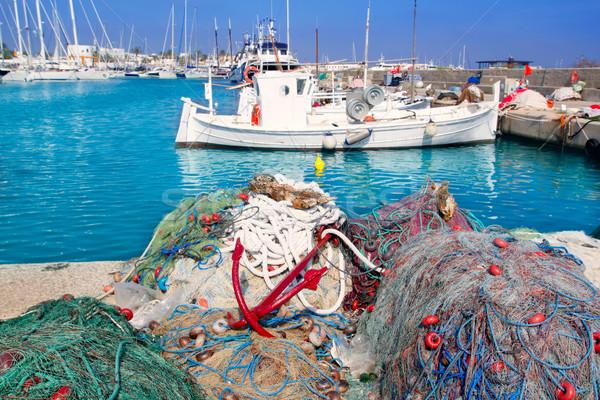 fisherboats with nets longlines buoy tackle Stock photo © lunamarina