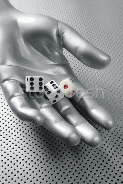 Dices gambling hand futuristic metaphor Stock photo © lunamarina