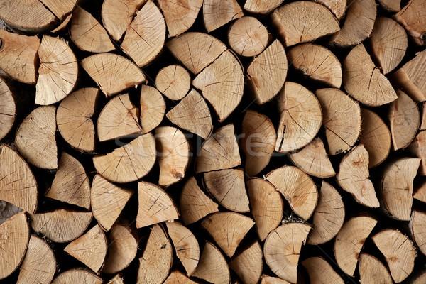 Vág tűzifa boglya minta természet otthon Stock fotó © lunamarina