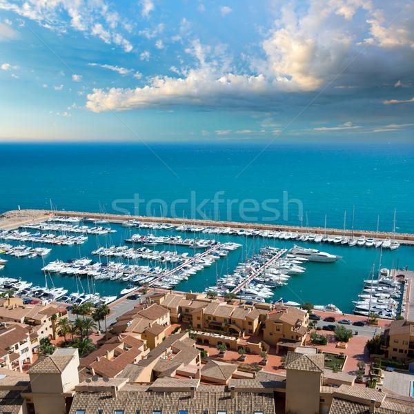 Club jachthaven luchtfoto middellandse zee zee Spanje Stockfoto © lunamarina