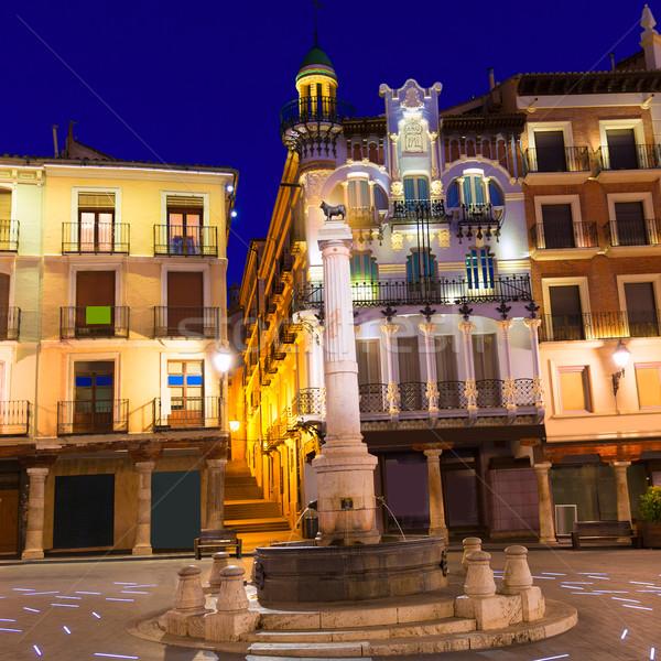 Aragon Teruel plaza el Torico Carlos Castel square Spain Stock photo © lunamarina