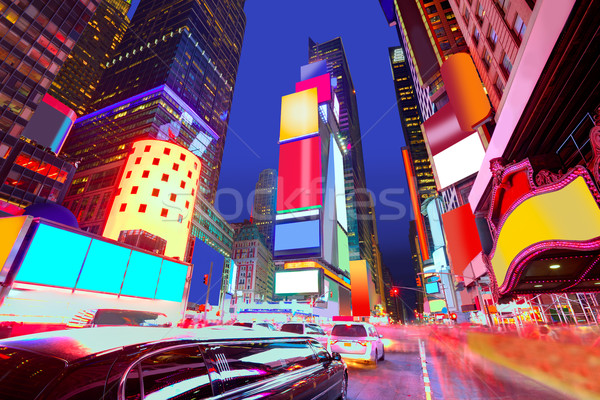 Times Square Manhattan New York reklámok összes üzlet Stock fotó © lunamarina