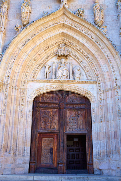 Burgos San Nicolas church door in Castilla Spain Stock photo © lunamarina