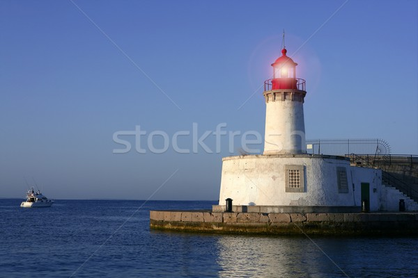 Lighthouse in balearic Islands Ibiza city Stock photo © lunamarina