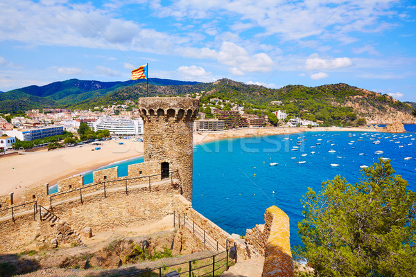 Tossa de Mar castle in Costa Brava of Catalonia Stock photo © lunamarina
